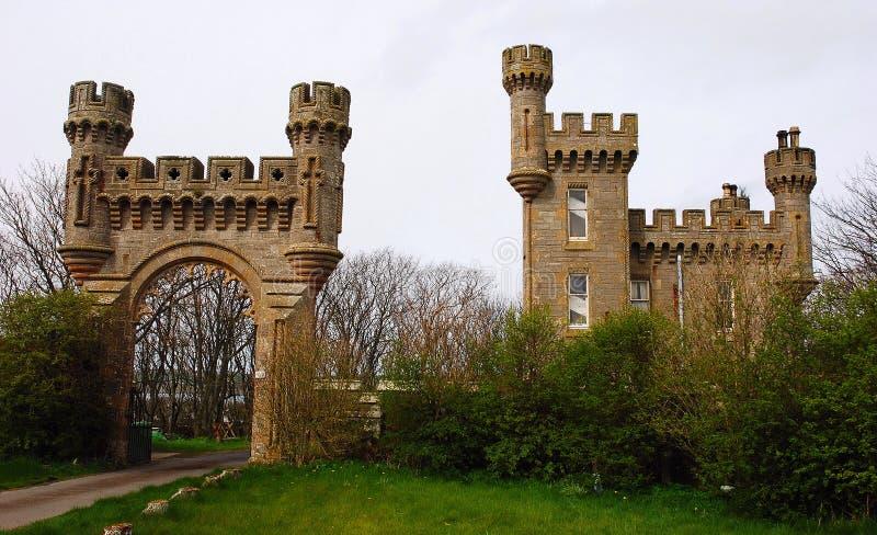 Het kasteel van Thurso stock afbeelding
