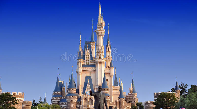 Het Kasteel van Tokyo Disneyland stock foto