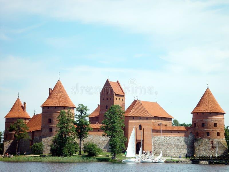 Het kasteel van Trakai stock foto