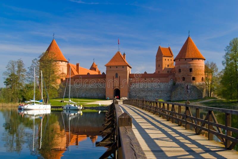 Het kasteel van Trakai in Litouwen stock fotografie