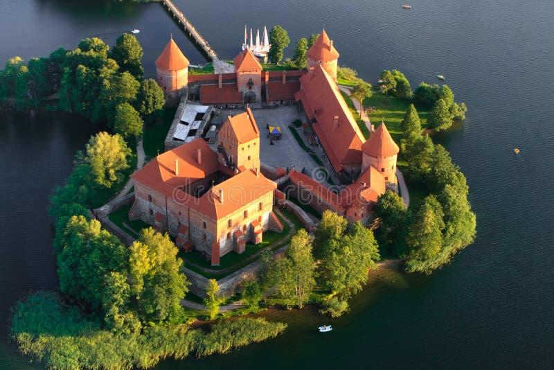 Het kasteel van Trakai in Litouwen stock afbeelding