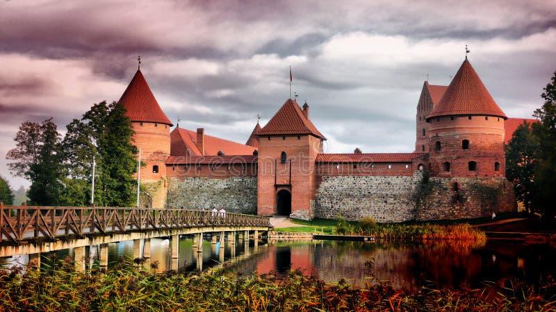 Het kasteel van Trakai, Litouwen stock foto