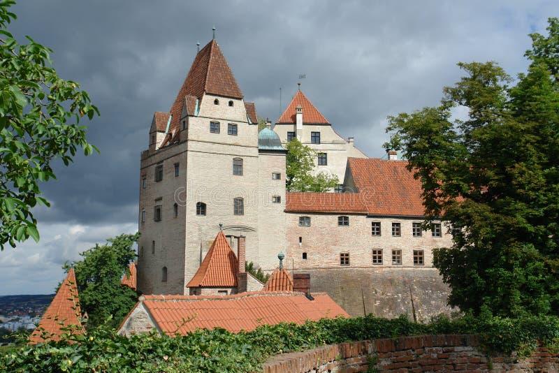 Het Kasteel van Trausnitz stock afbeeldingen