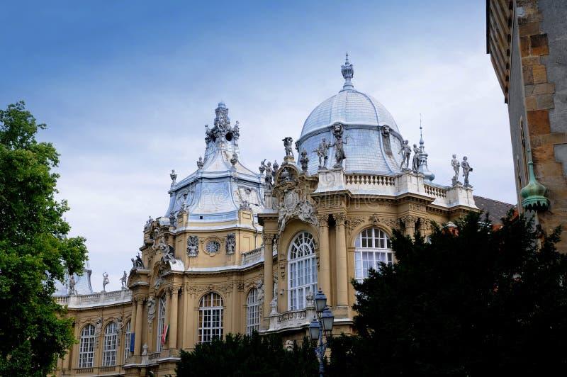 Het Kasteel van Vajdahunjad in Boedapest stock afbeelding
