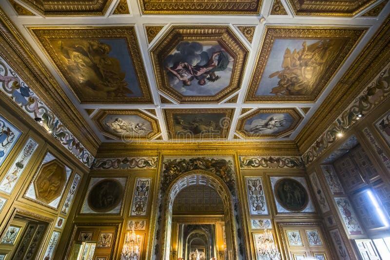 Het kasteel van Vauxle vicomte, Maincy, Frankrijk royalty-vrije stock foto