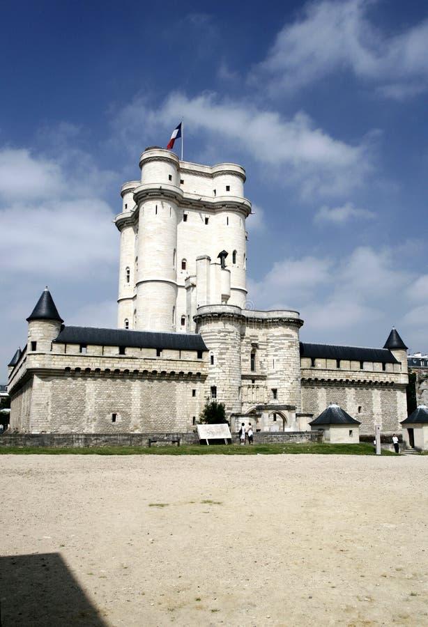 Het Kasteel van Vincennes dichtbij Parijs stock fotografie
