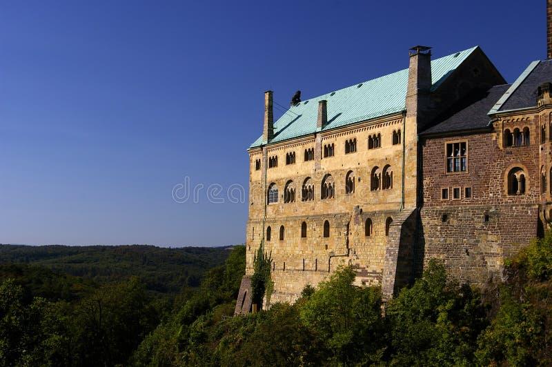 Het kasteel van Wartburg stock afbeeldingen