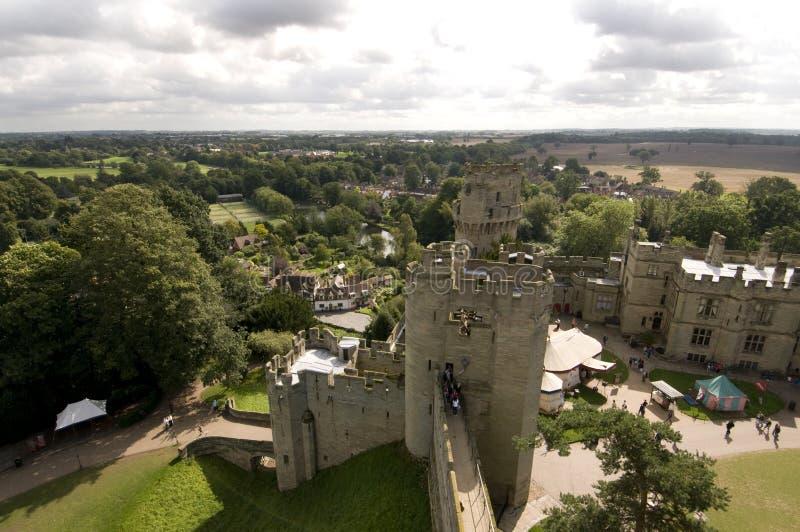 Het kasteel van Warwick stock afbeelding