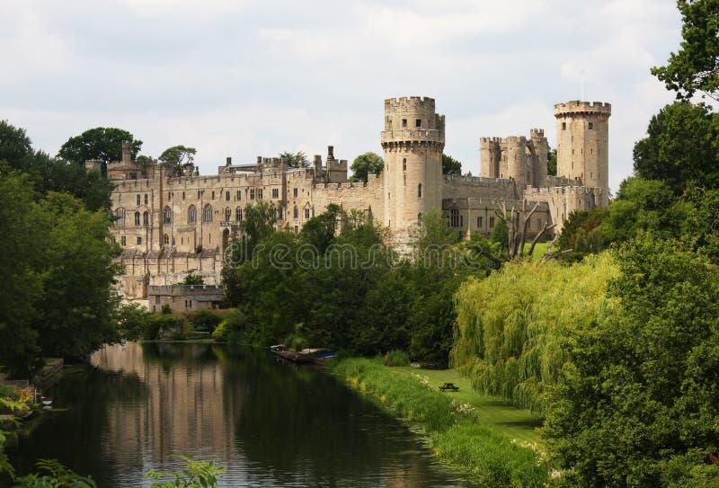 Het Kasteel van Warwick in Engeland stock afbeeldingen