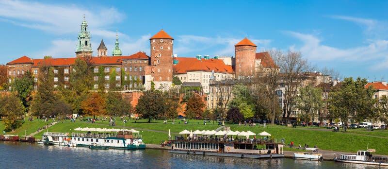 Het Kasteel van Wawel in Krakau stock foto