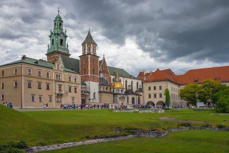 Het Kasteel van Wawel in Krakau royalty-vrije stock afbeelding