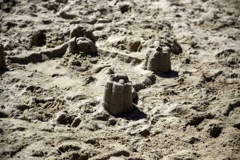 Het kasteel van het zandstrand stock foto