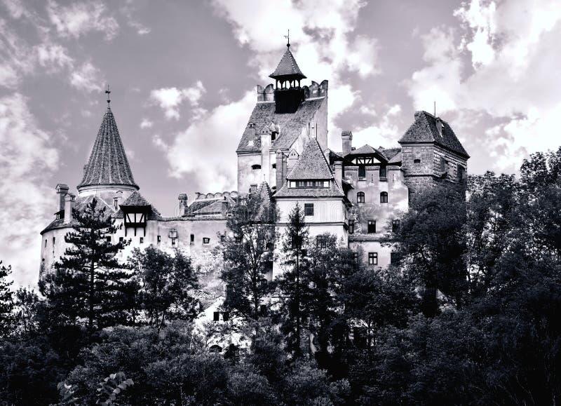 Het Kasteel van zemelen - het Kasteel van Dracula stock fotografie