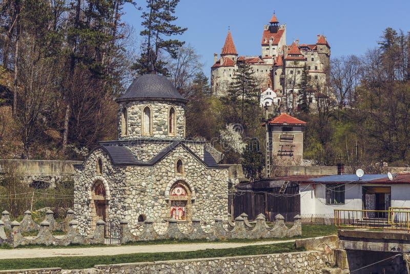 Het Kasteel van zemelen, Roemenië royalty-vrije stock afbeeldingen