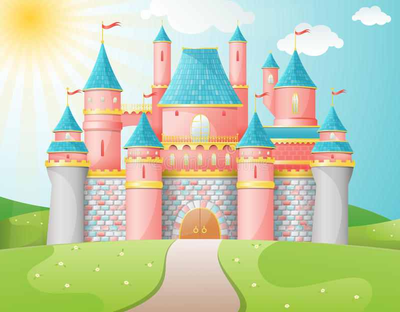 Het kasteelillustratie van FairyTale. royalty-vrije illustratie