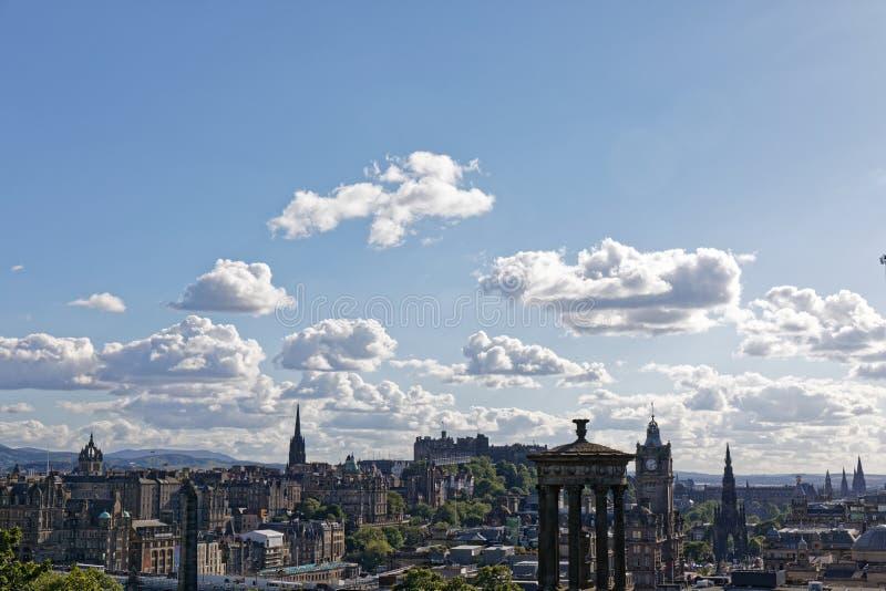 Het Kasteelmening van Edinburgh van Calton-Heuvel - Edinburgh, Schotland royalty-vrije stock afbeelding