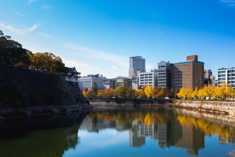 Het kasteelpark van Osaka stock foto
