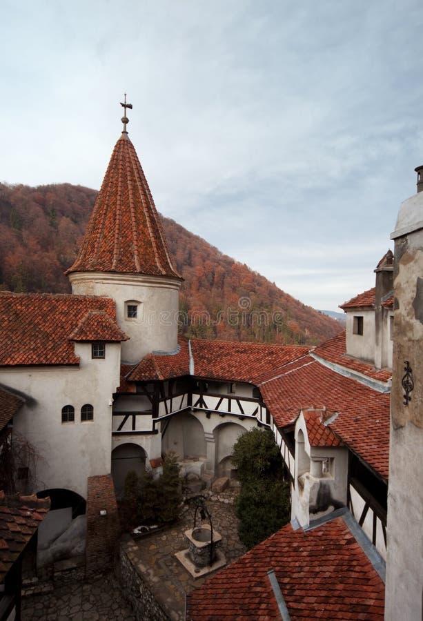 Het kasteelZemelen van Dracula stock foto's