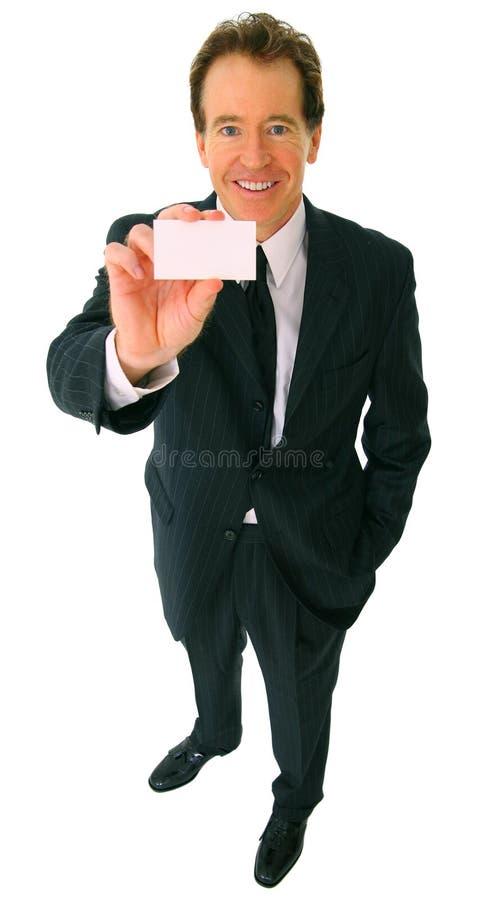 Het Kaukasische Tonende Adreskaartje van de zakenman royalty-vrije stock foto