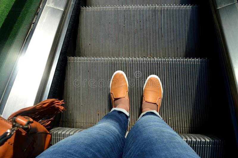Het keerpunt is onder uw voeten stock afbeelding