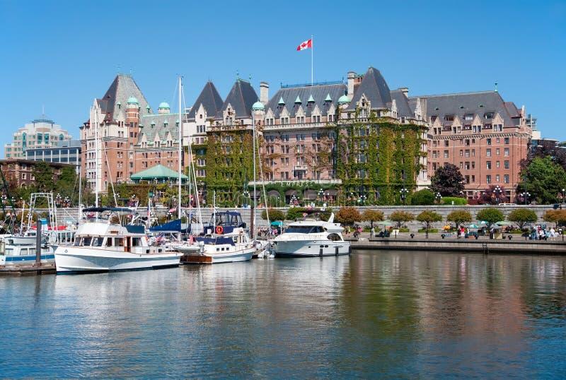 Het Keizerinhotel, Victoria, Canada stock foto
