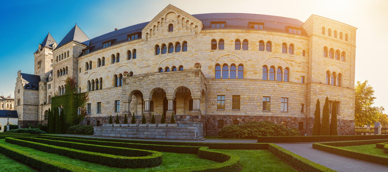 Het keizerkasteel in Poznan is paleis in Polen royalty-vrije stock fotografie