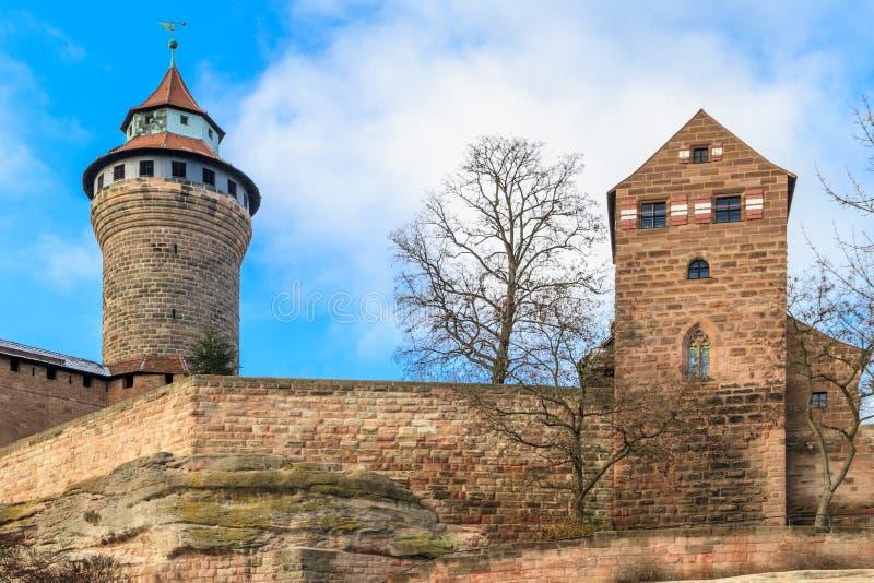 Het KeizerKasteel van Nuremberg stock foto