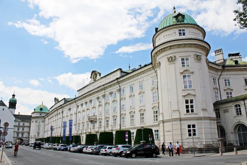 Het Keizerpaleis in Innsbruck - Oostenrijk stock afbeelding