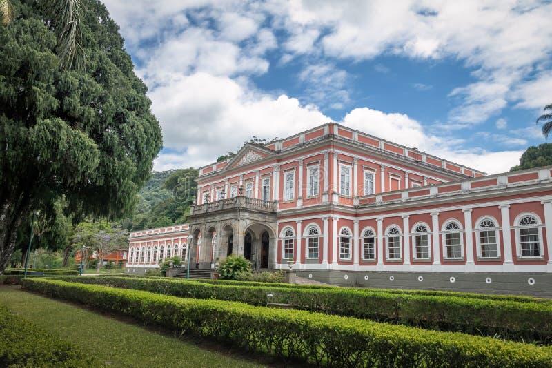 Het keizerpaleis van de Museum vroegere Zomer van Braziliaanse Monarchie - Petropolis, Rio de Janeiro, Brazilië stock afbeelding