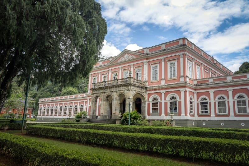 Het keizerpaleis van de Museum vroegere Zomer van Braziliaanse Monarchie - Petropolis, Rio de Janeiro, Brazilië royalty-vrije stock afbeeldingen