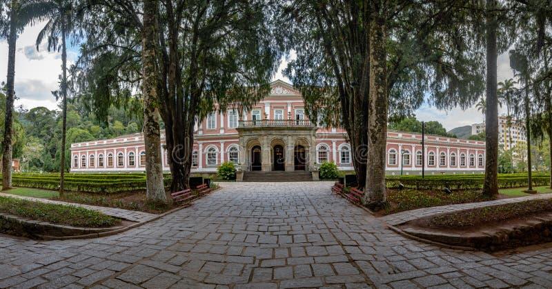 Het keizerpaleis van de Museum vroegere Zomer van Braziliaanse Monarchie - Petropolis, Rio de Janeiro, Brazilië royalty-vrije stock foto