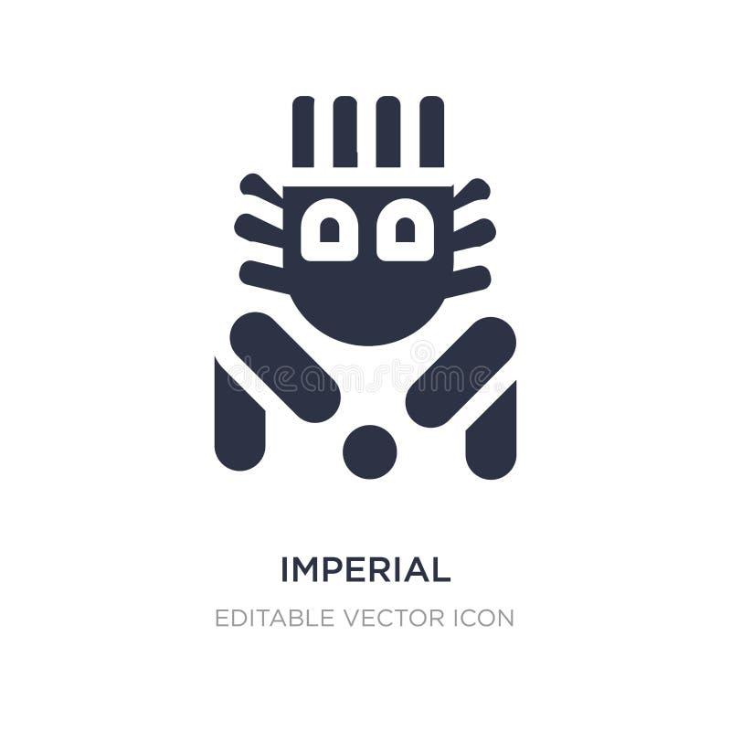 het keizerpictogram van de beschermerleeuw op witte achtergrond Eenvoudige elementenillustratie van Monumentenconcept royalty-vrije illustratie