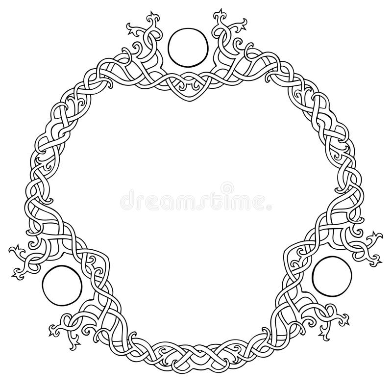 Het Keltische kader van de knoopcirkel royalty-vrije stock fotografie