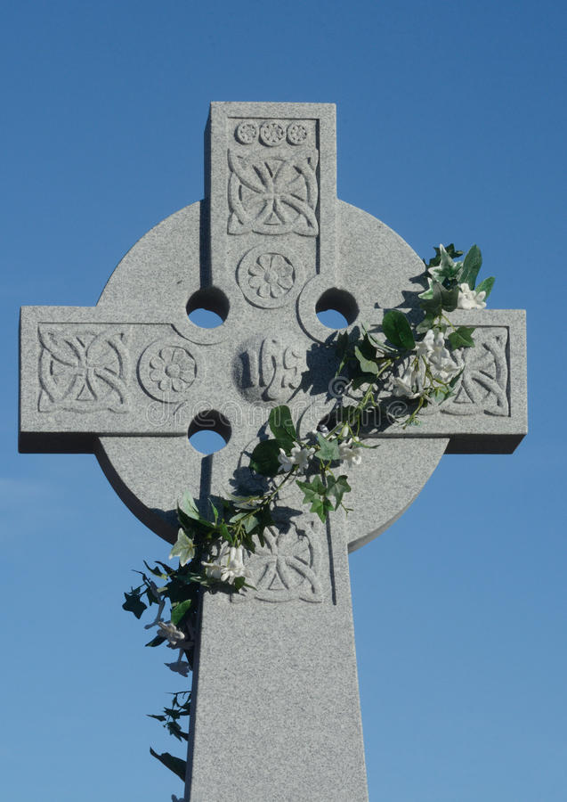 Het Keltische kruis van Pasen royalty-vrije stock foto
