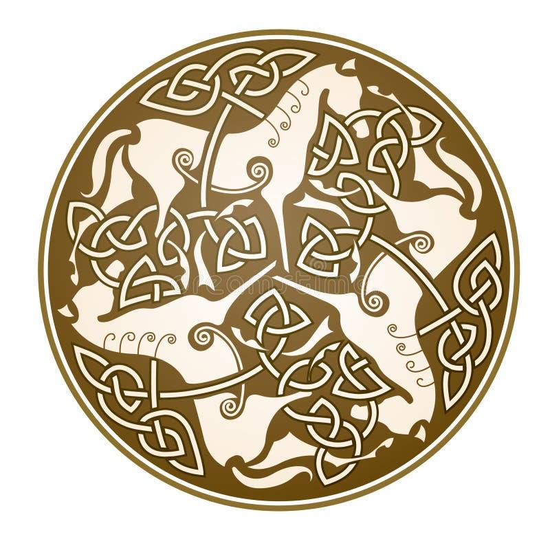 Het Keltische symbool van Epona stock illustratie