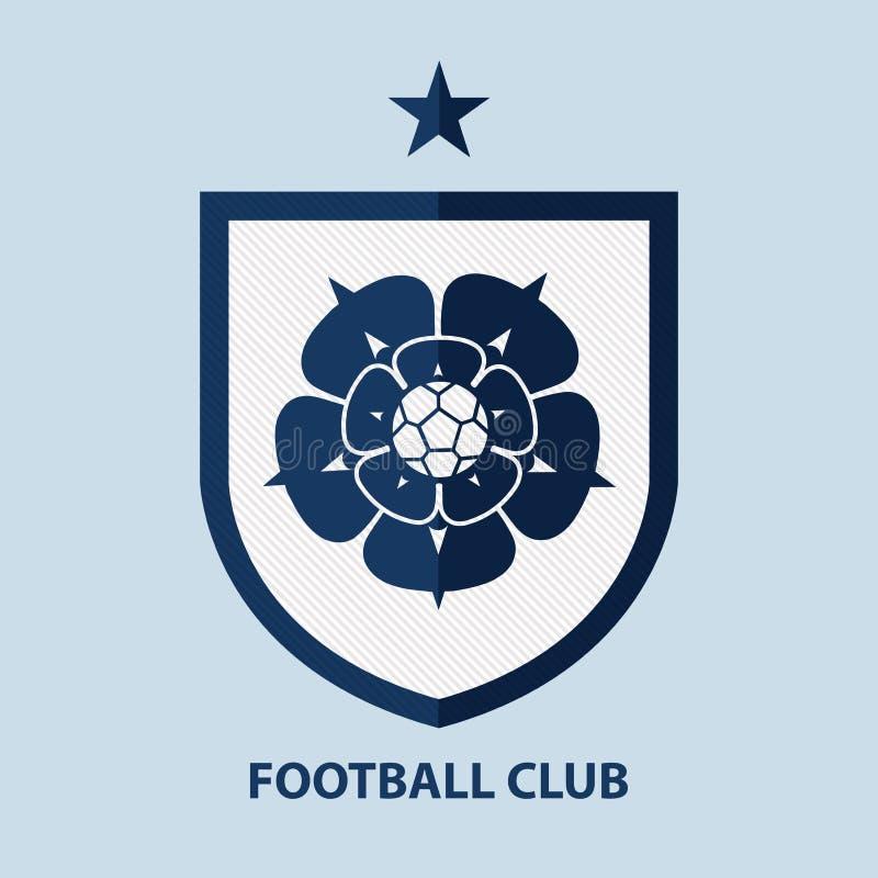 Het Kenteken Logo Design Template van de voetbalvoetbal De identiteit van het sportteam royalty-vrije illustratie