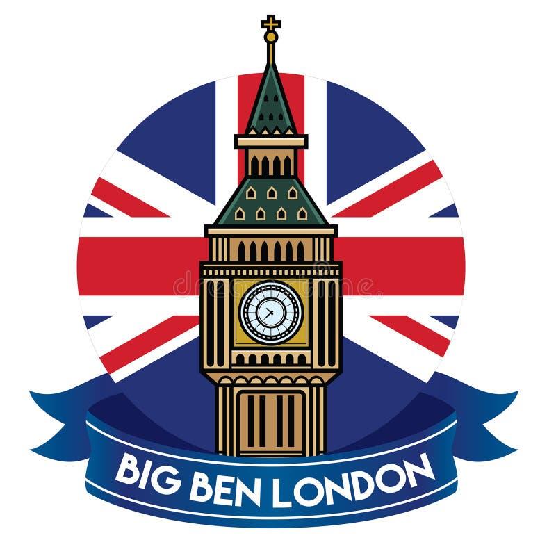 Het kenteken van de Big Ben van Londen stock illustratie