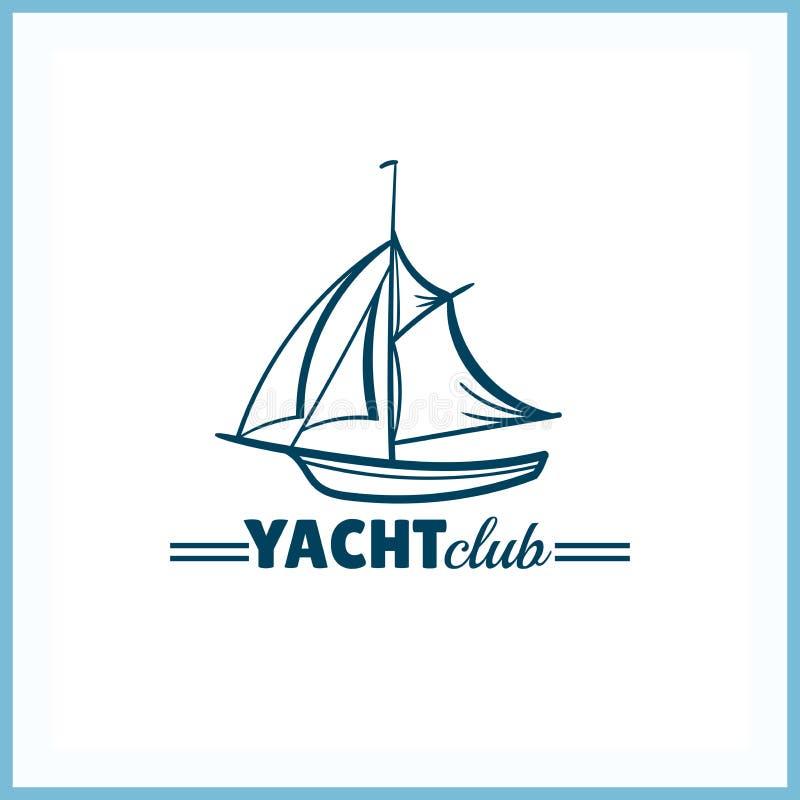 Het kenteken van de jachtclub vector illustratie