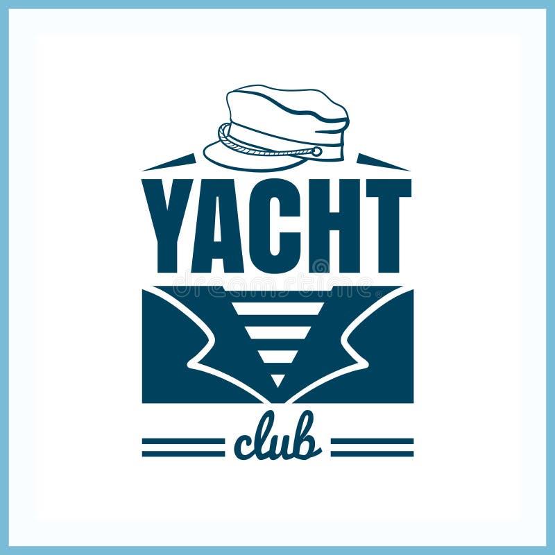 Het Kenteken van de jachtclub met Hoed vector illustratie