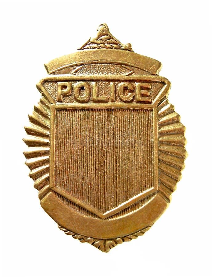 Het Kenteken van de politie stock foto's