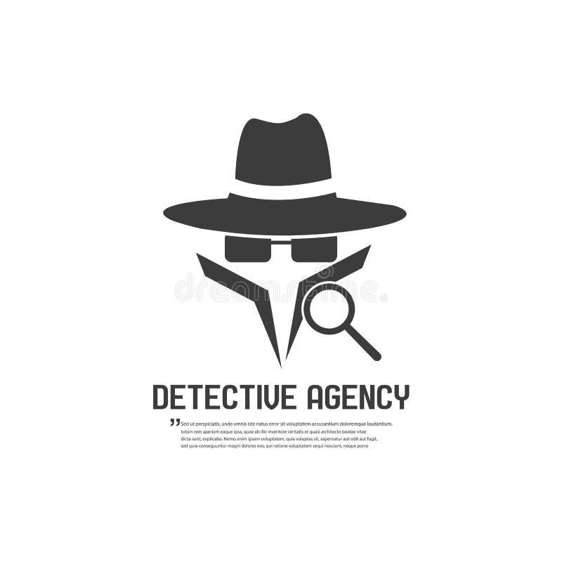 Het kenteken van het detectiveagentschap Vector illustratie royalty-vrije illustratie