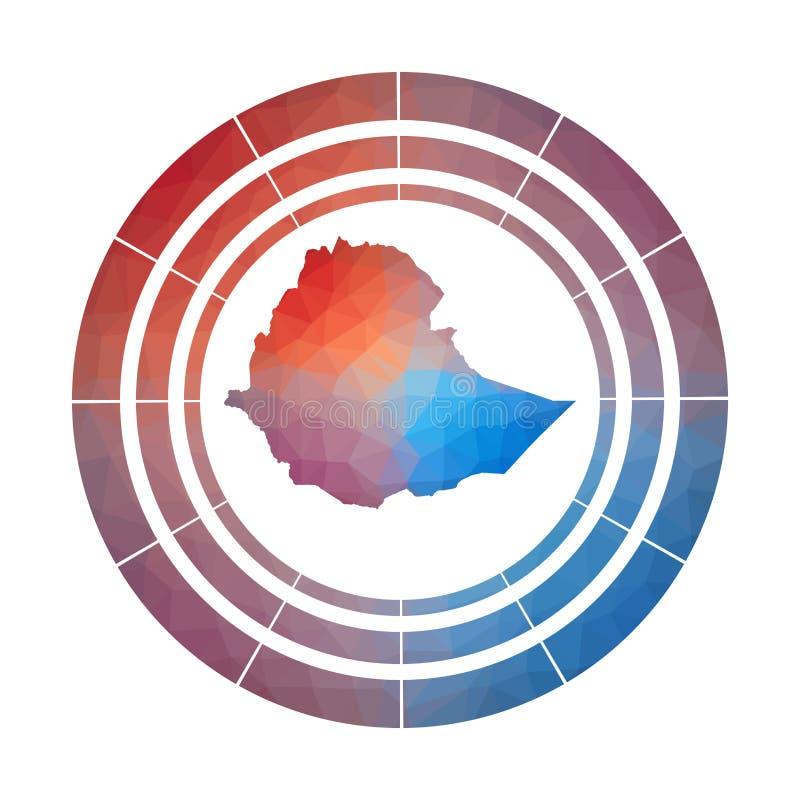 Het kenteken van Ethiopië stock illustratie