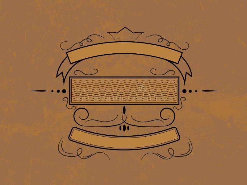 Het kenteken van Grunge vector illustratie