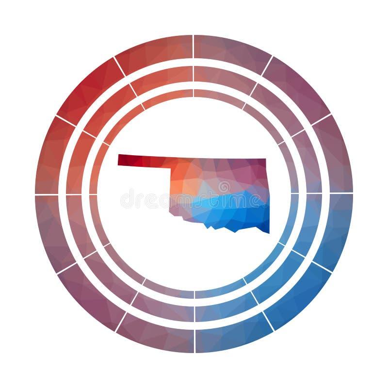 Het kenteken van Oklahoma vector illustratie