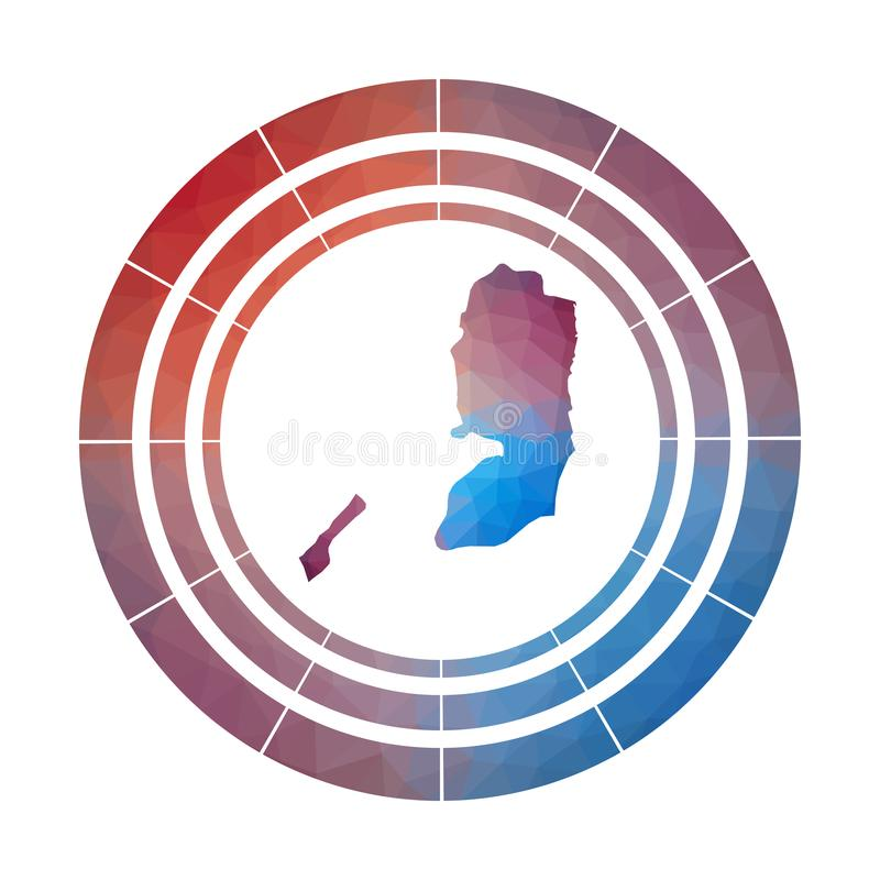 Het kenteken van Palestina royalty-vrije illustratie