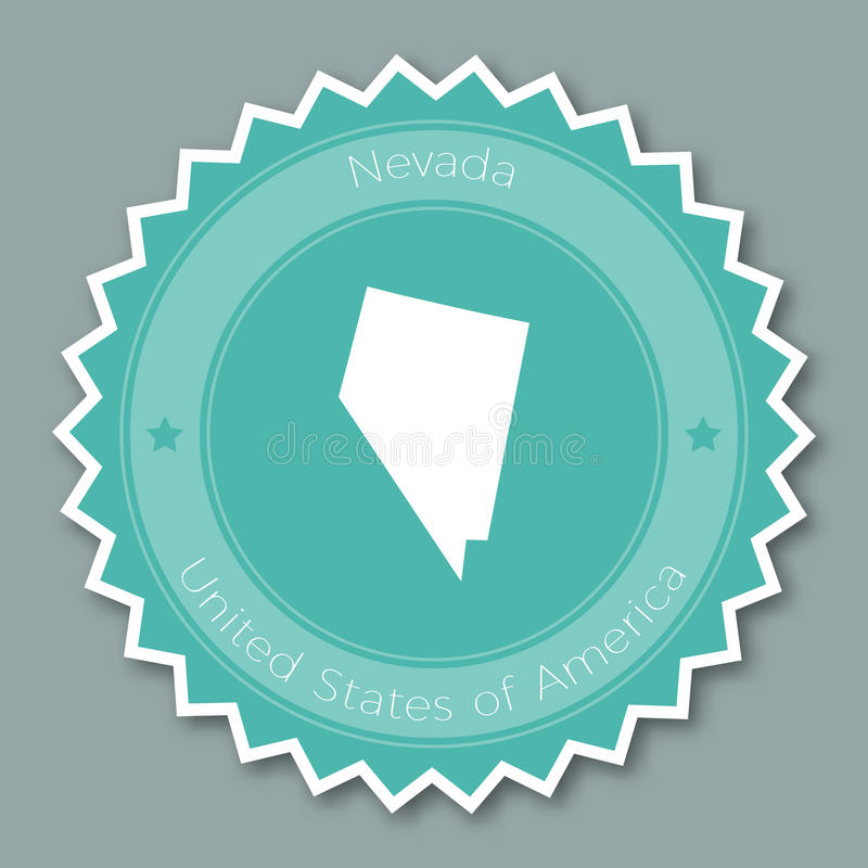 Het kenteken vlak ontwerp van Nevada stock illustratie