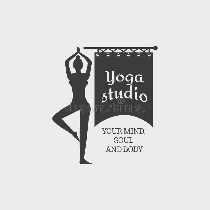 Het Kentekenmalplaatje van de yogastudio royalty-vrije illustratie