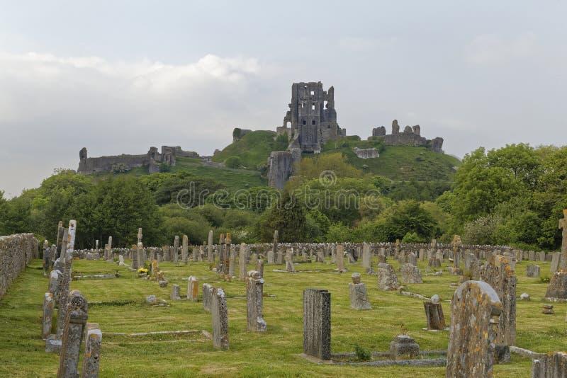 Het kerkhof van het Corfekasteel royalty-vrije stock fotografie