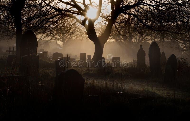 Het Kerkhof van Halloween stock foto