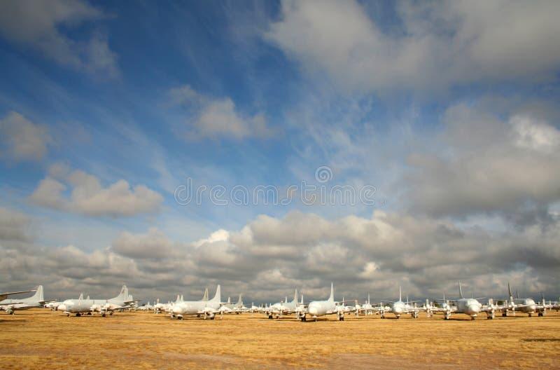 Het kerkhof van het vliegtuig in Arizona royalty-vrije stock afbeelding